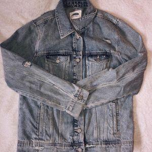 Light-Wash Ripped Denim Jacket